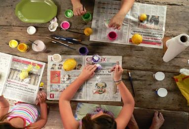 plaster painting kids